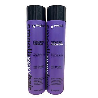 Sexy Hair Smooth Sexy Szampon do włosów & Odżywka Zestaw 10.1 OZ