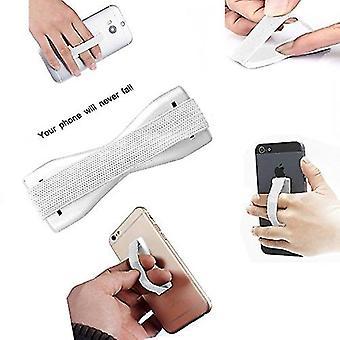 Alcatel 3T 8 (vit) telefon anti-slip elastisk finger grepp hållare