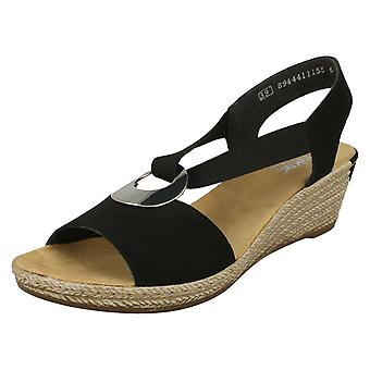 Dames Rieker Wedge Heeled Sandals 624H6
