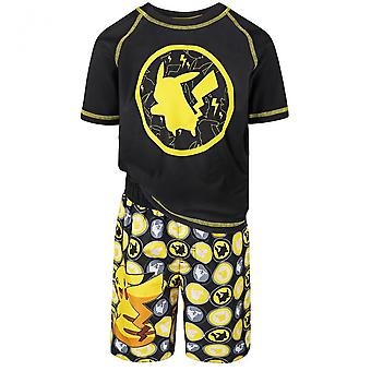 Pokemon Pikachu Giovani Ragazzi Rash Guard e Swim Trunks Set