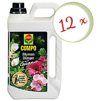 Sparset: 12 × كومبو زهرة الأسمدة مع جوانو، 3 لترات