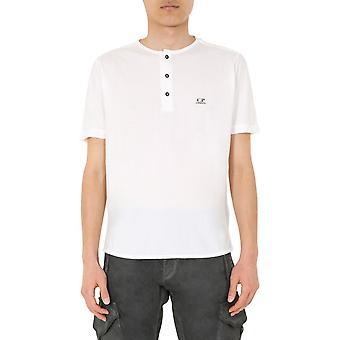 C.p. Företag 08cmts296a005689g103 Män's White Cotton T-shirt