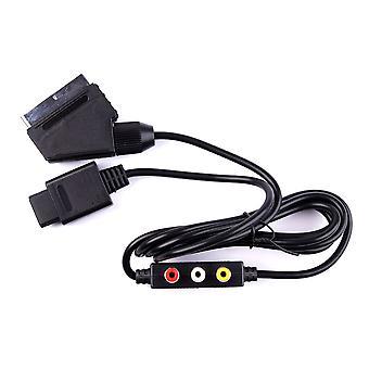 Cable de cable para Nintendo 64 SNES Gamecube AV Scart Lead TV RGB