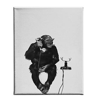 Malowanie czarno-białe kolor biały, czarny w poliestrowym, drewno, L45xP3xA70 cm