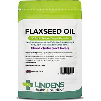Lindens Flax Seed Oil 1000mg Capsules 90 (5415)