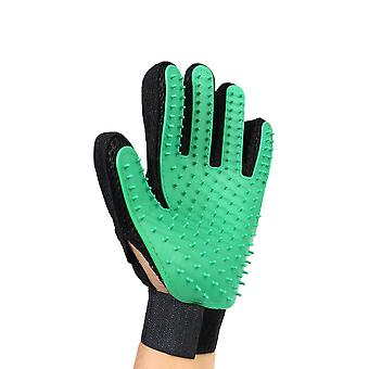 Green Left Hand Silicone Pet Grooming Glove