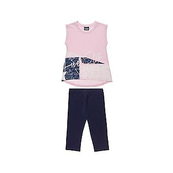 Alouette Girls' Five Star T-Shirt Set With English Print