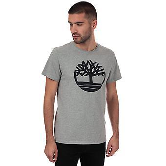 Męska koszulka z logo Timberland Brand Tree w kolorze szarym