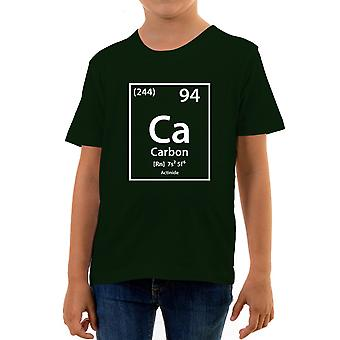Reality glitch carbon element periodic table kids t-shirt