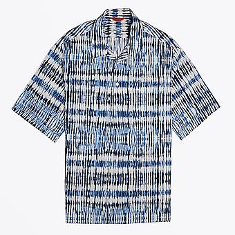 Barena  - Tie-dye Short-Sleeve Shirt - Blue