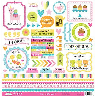 Doodlebug Design Hey Cupcake Ceci & Que stickers