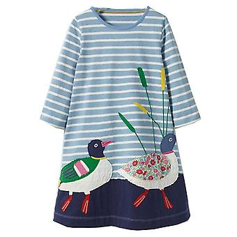 Long Sleeve Dress , Ducks Motif, Infant