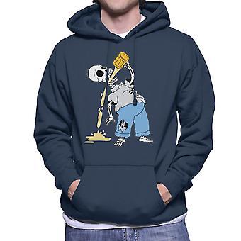 Os Simpsons esqueleto cerveja Homer Halloween homens ' s camisola com capuz