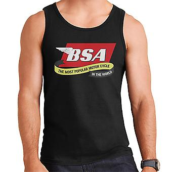 BSA a moto mais popular do mundo Men's Vest