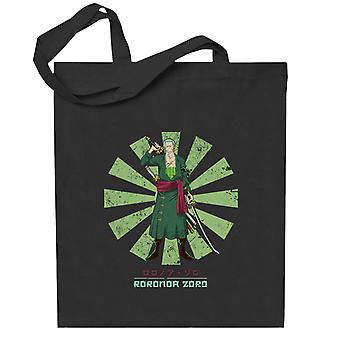 One Piece Roronoa Zoro Retro Japanse Totebag