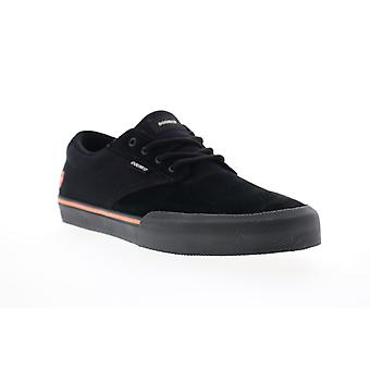Etnies Jameson Vulc x Doomed Mens Black Suede Low Top Lace Up Sneakers Shoes
