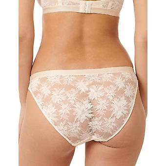 Miss Sans Complexe Sous Le Charme 60PAF52-HJJ Women's Powder Ivory Floral Knickers Panty Full Brief