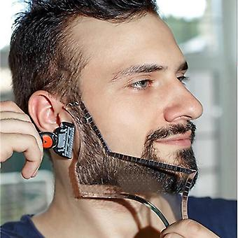 Beard Barba Moustache Shaping Template Shower Salon - Styling Comb Care Brush