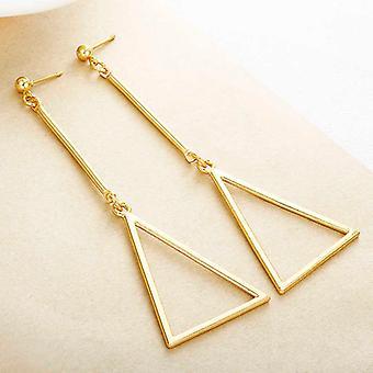 أقراط قطرة هندسية - ذهبي