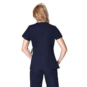 KOI Women's Katelyn Easy-fit Mock-wrap Scrub Top with Adjustable Side Tie, Na...