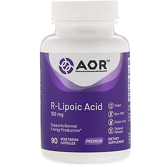 Advanced Orthomolecular Research AOR, Acide R-Lipoic, 150 mg, 90 Capsu végétarien