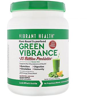 Vibrant Health, Green Vibrance +25 Billion Probiotics, Version 18.0, 32.21 oz (9