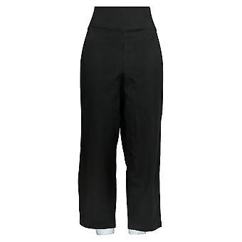 Frauen mit Kontrolle Frauen's Hose Tummy Control Crop Pants Schwarz A355022