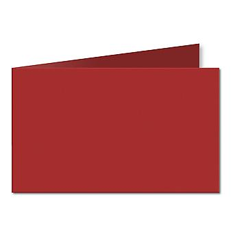Chilli Red. 128mm x 356mm. 5x7 (Short Edge). 235gsm Folded Card Blank.