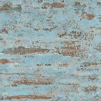 Industrial Wall Texture Wallpaper Blue AS Creation AS374153