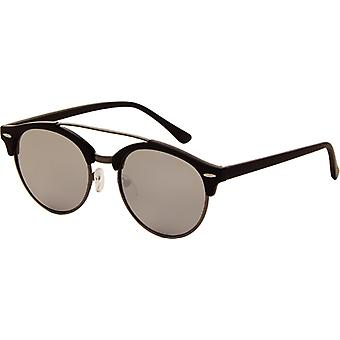 Sunglasses Unisex black with grey mirror lens (AZ-2180)