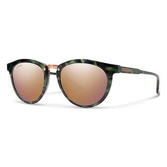 Zonnebril Unisex Questa polariseert donkergroen/roze goud