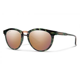 Sonnenbrille Unisex Questa    polarisiert dunkelgrün/rosa gold