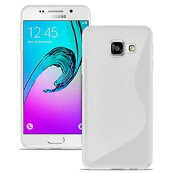 S-Line Case for Samsung Galaxy A3 (2016) A310 Common Colors TPU Patterned White