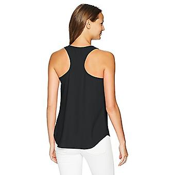 Brand - Daily Ritual Women's Racerback Sleeveless Shell, black, 12