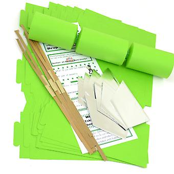 8 Lime Green Make & Vul uw eigen diy recyclebare kerst cracker craft kit