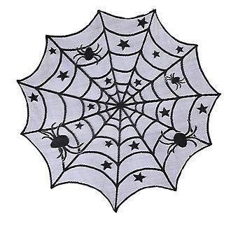 Halloween decoration cobweb tablecloth, round fireplace cobweb halloween party