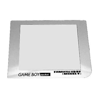Reproduction limited edition famitsu model f screen lens replacement cover for nintendo game boy pocket | zedlabz / chrome silver