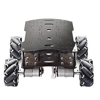 Load Metal Omni Mecanum Wheel Robot Car Chassis -kit Con motore Encoder