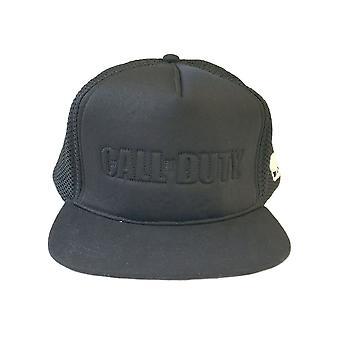 Call of Duty Black Logo Snapback Cap