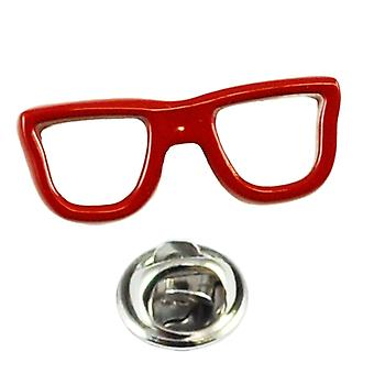 Solmiot Planet Geek Red Glasses Lapel Pin Badge