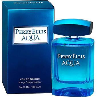 Perry Ellis Aqua av Perry Ellis för män 3,4 oz Eau De Toilette Spray