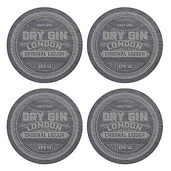 iStyle Set of 4 Slate Gin Coasters
