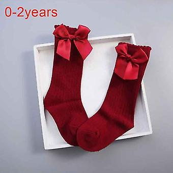 Cute Cotton Bowknot, Knee High Socks For Infant Toddler