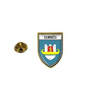 pins pin badge pin's souvenir ville drapeau pays blason albanie durres