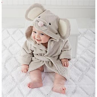 Vastasyntynyt vauva söpö eläin muoto kylpy pyyhe kylpytakki puuvilla'täysikuun kangas