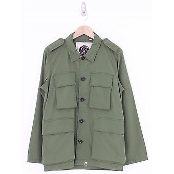 Pretty Green Four Pocket Military Overshirt - Khaki