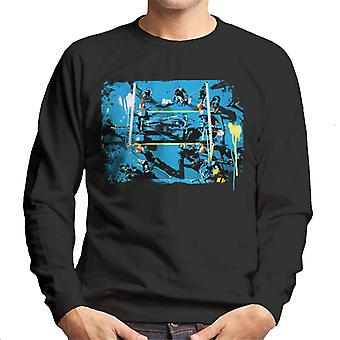 Motorsport Images Lewis Hamilton Tuscany GP In The Pits Men's Sweatshirt