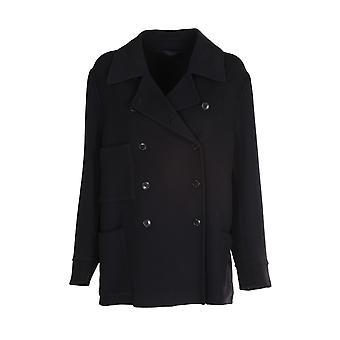 Closed C9702963v22100 Women's Black Wool Coat