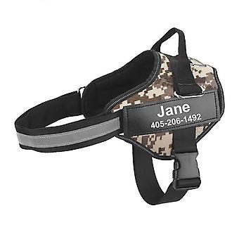 Personalized dog harness reflective adjustable pet vest