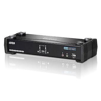 Aten 2-Port USB Dual-Link DVI KVMP Switch w/ 7.1 Audio and USB 2.0 Hub